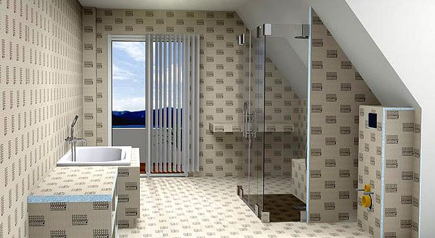 trois espaces principaux salle bains - azzi carrelage