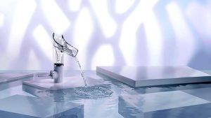 melangeur de salle de bain à tendance transparente - modele axor-starck - azzi carrelage