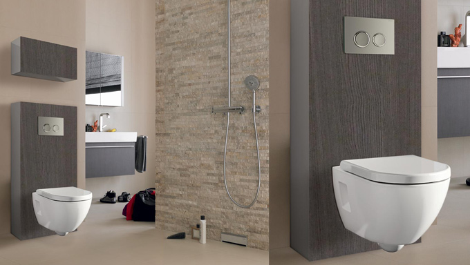 toilettes bati support geberit wc suspendu meuble habillage - azzi carrelage